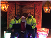 City Employees with Santa