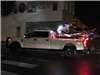 Lighted Pickup with Snowmobiling Grinch