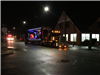 Lighted Semi with Xmas Display in Trailer