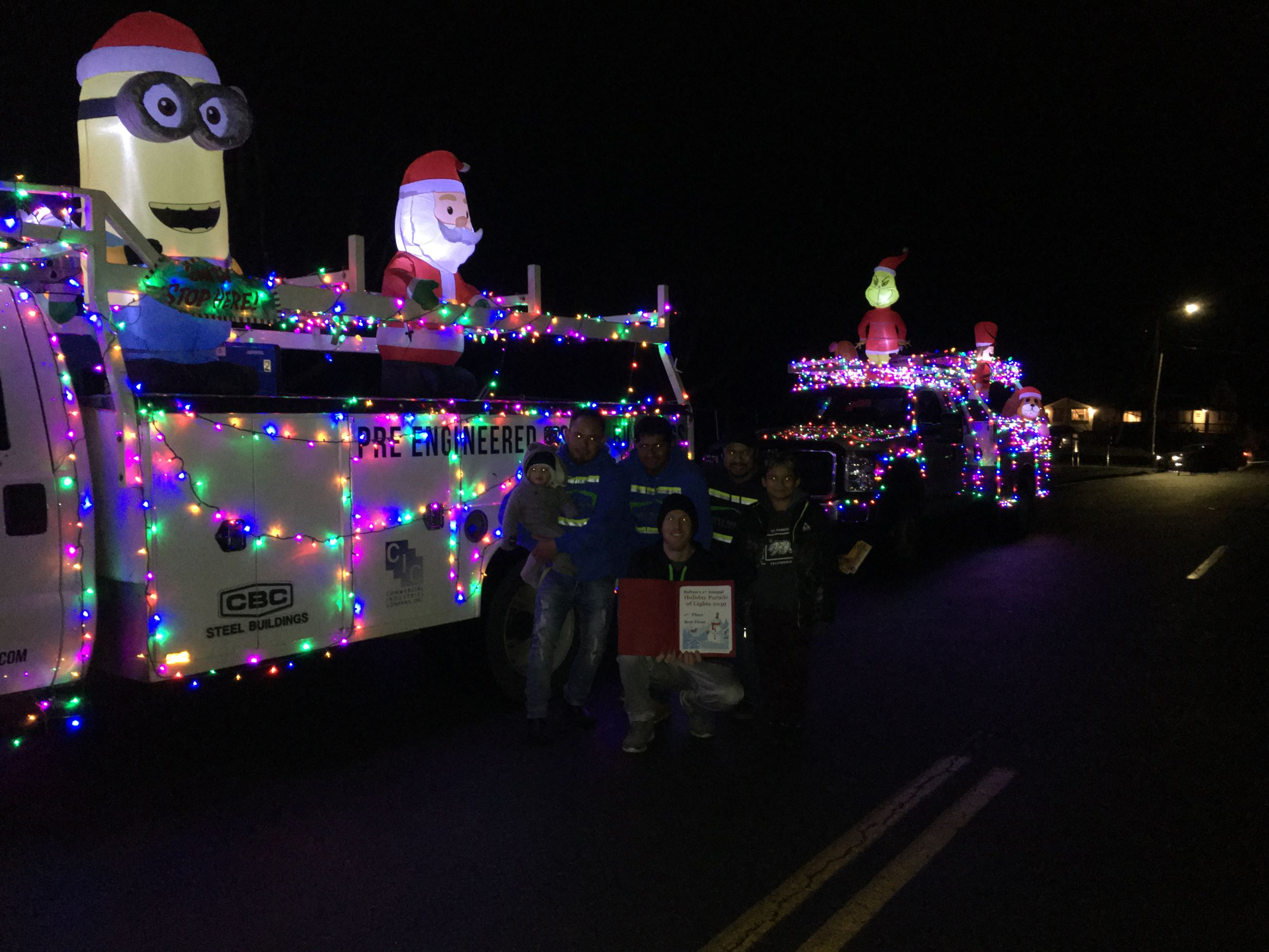2nd Place Parade Winner (CBC Steel lighted Truck)